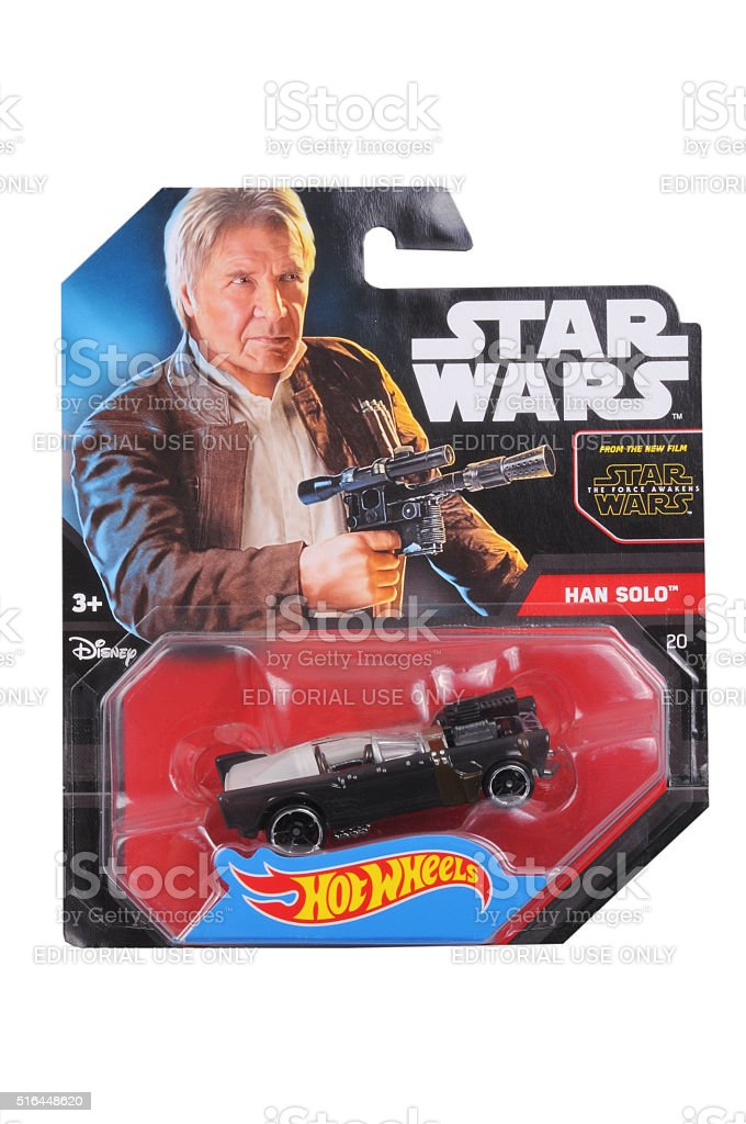 Han Solo Hot Wheels Diecast Toy Car stock photo
