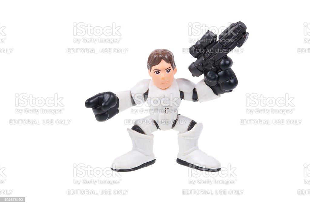 Han Solo Stormtrooper Action Figure stock photo