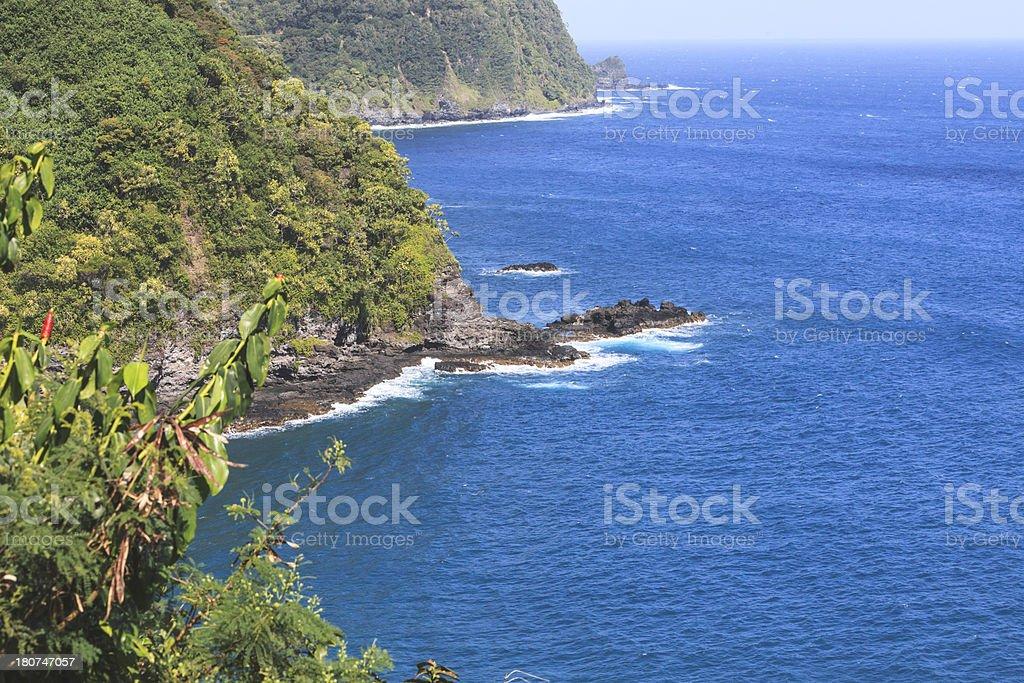 Hana Highway Coastline royalty-free stock photo