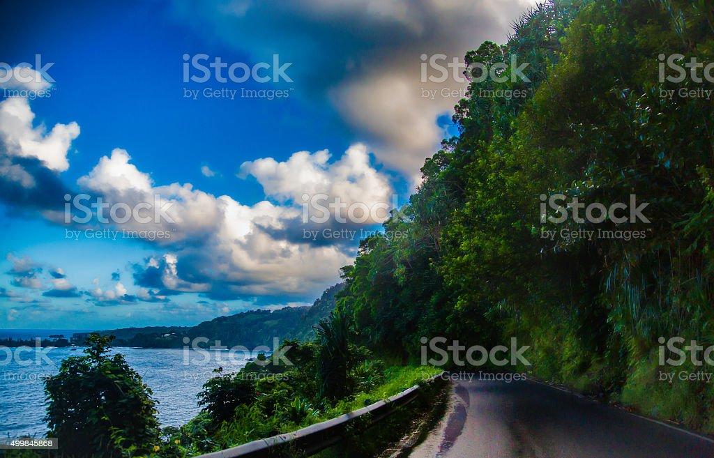 Hana Highway stock photo