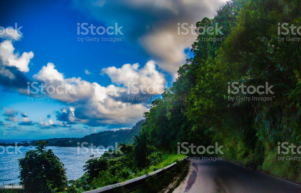 Hana Highway stock photo