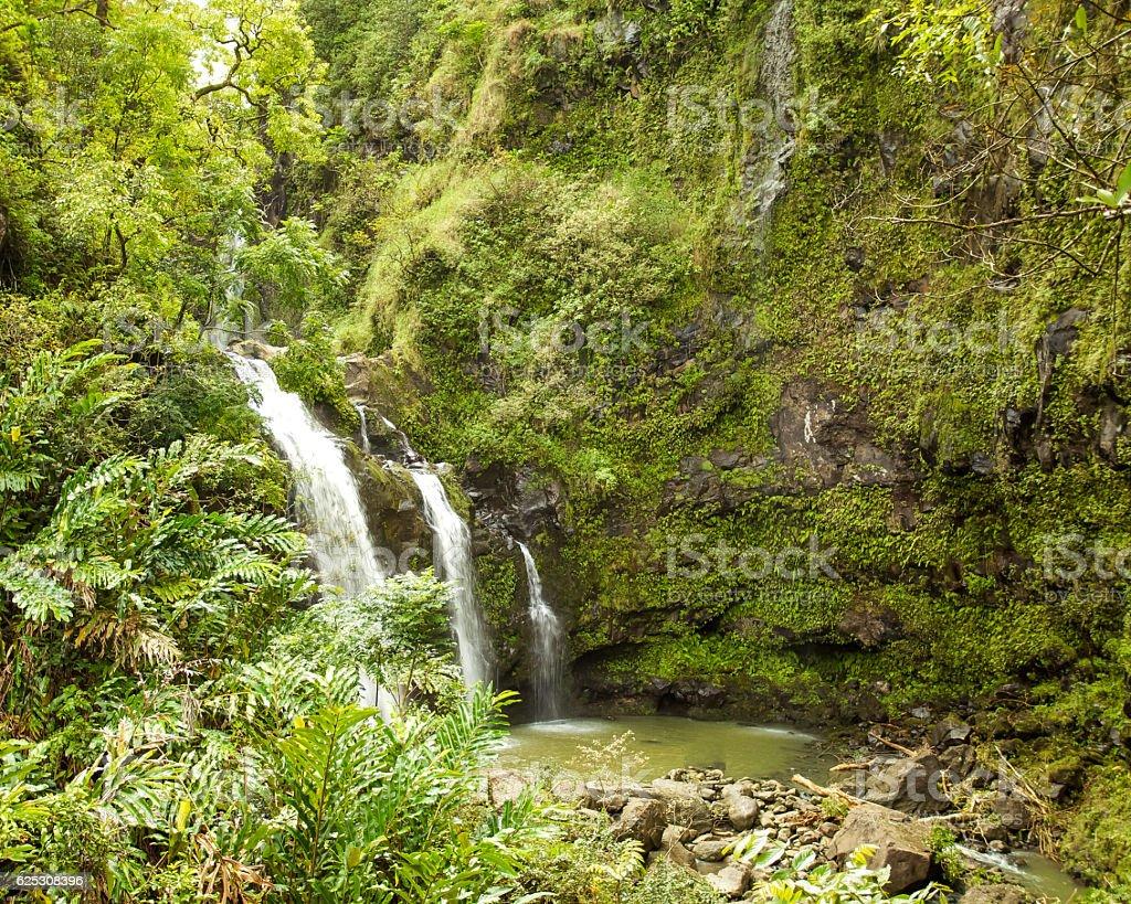 Hana Waterfalls stock photo
