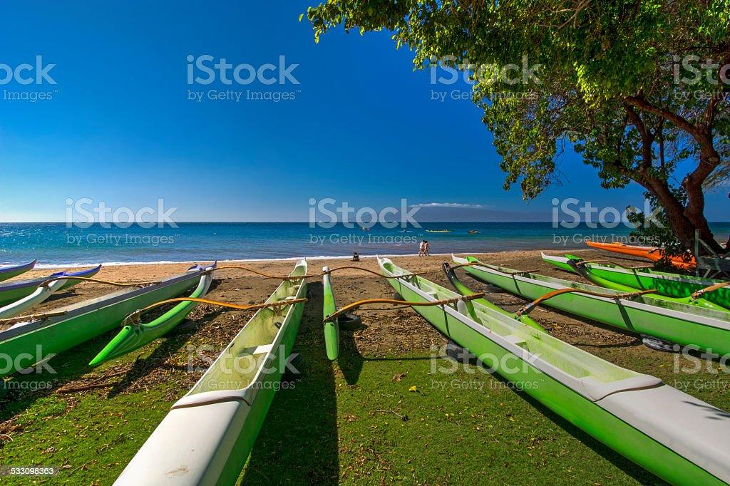 Hanakao'o or Canoe Beach, Maui, Hawaii stock photo
