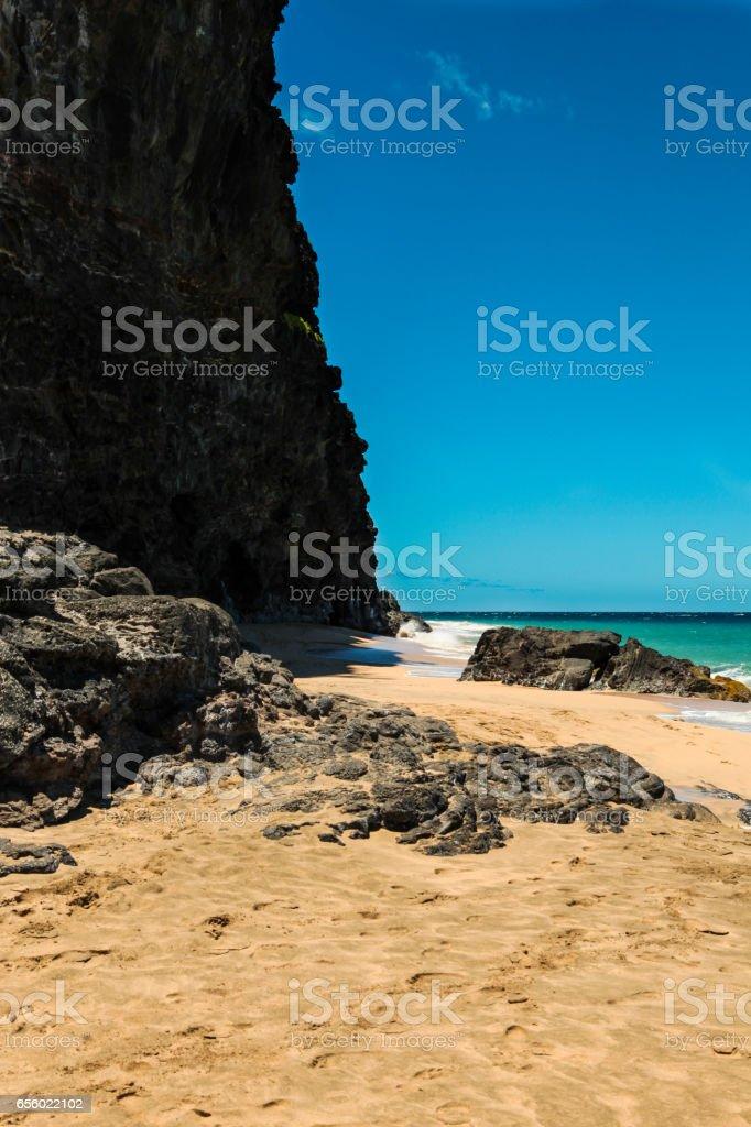 Hanakapi'ai Beach,  Kauai stock photo