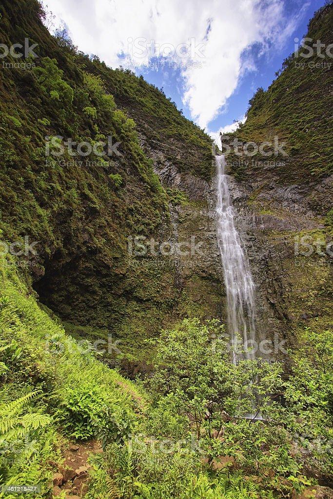 Hanakapi'ai Falls, Kauai island stock photo