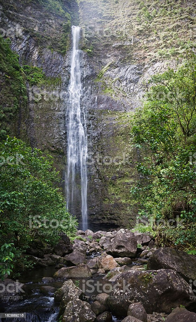 Hanakapiai Falls, Kauai stock photo