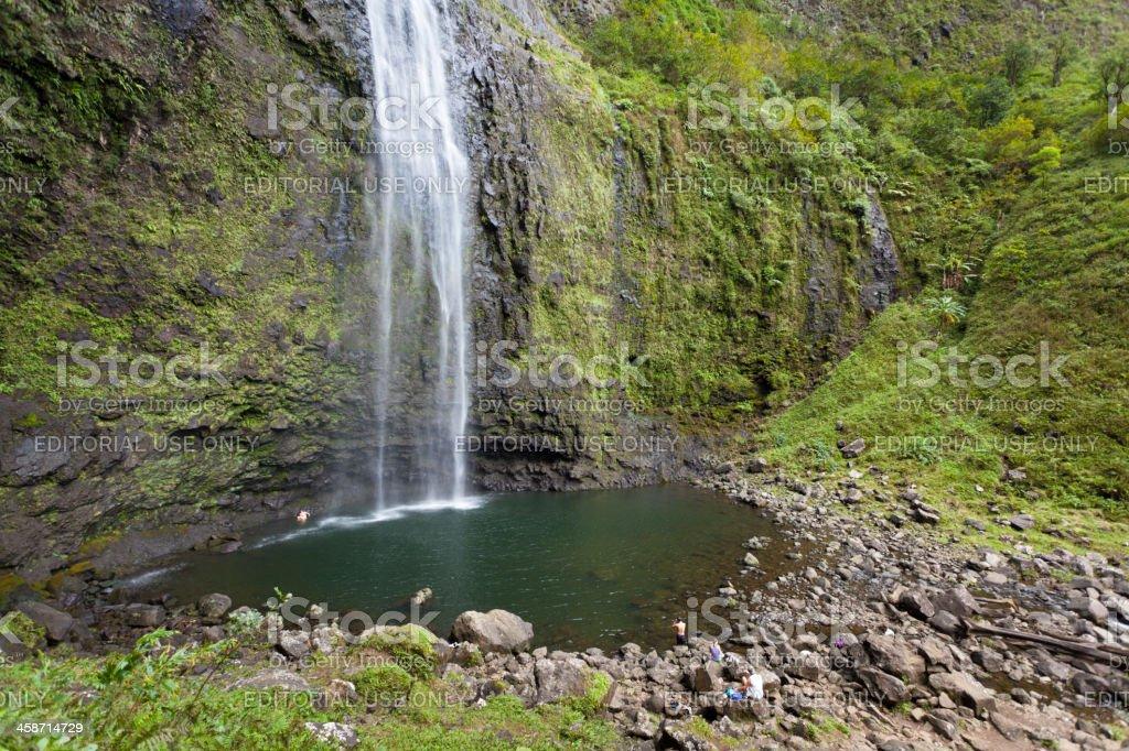 Hanakapi'ai Falls, Kauai stock photo