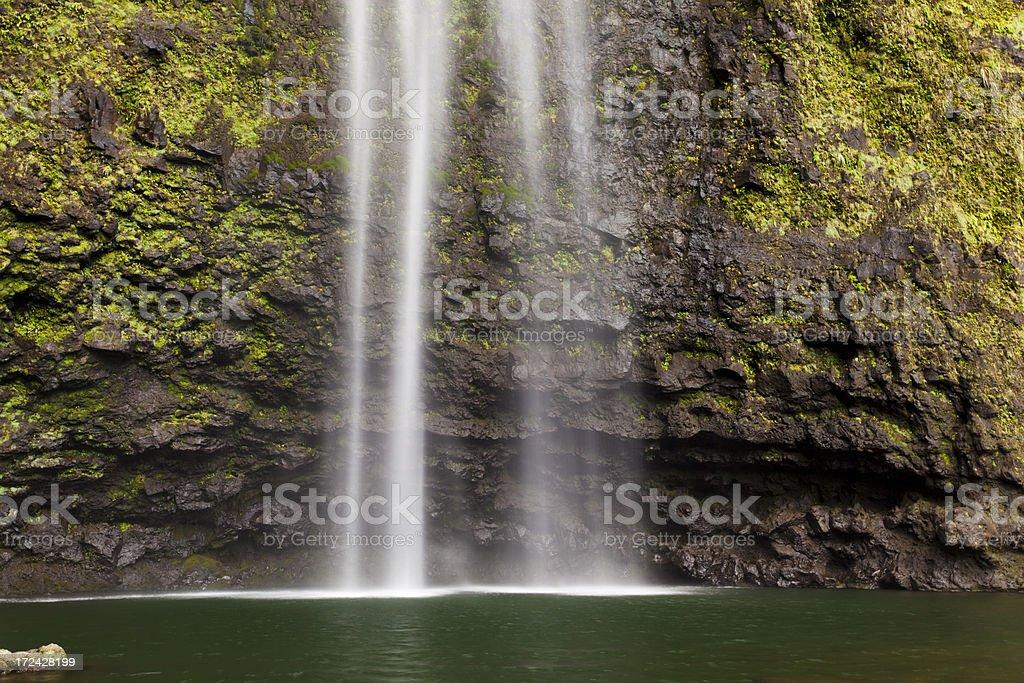 Hanakapi'ai Falls Long Exposure, Kauai stock photo