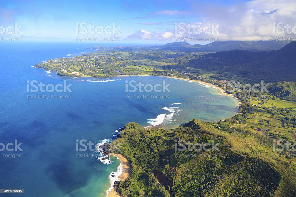 Hanalei Bay, Kauai stock photo
