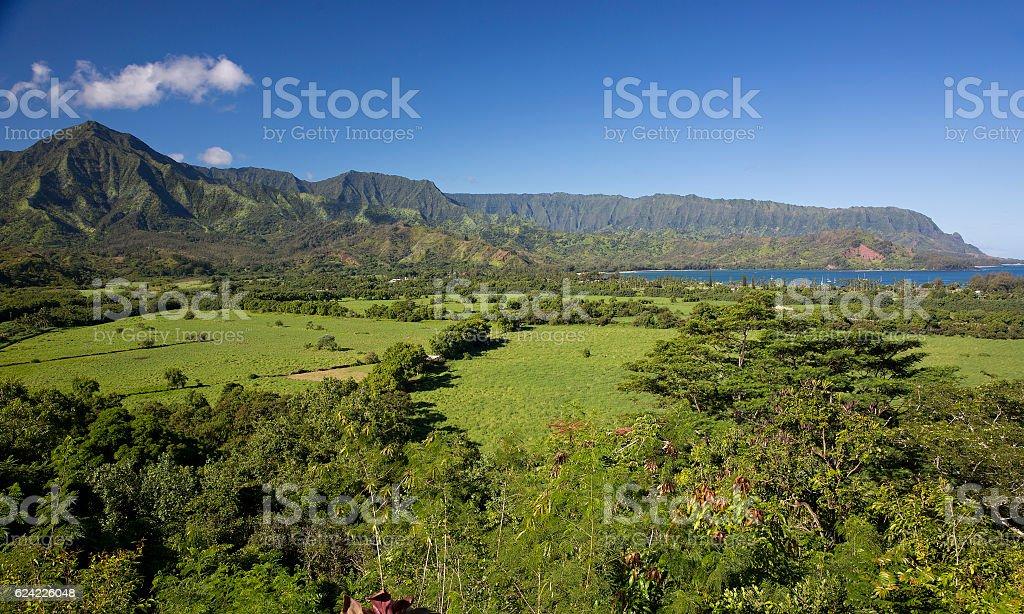 Hanalei Bay on Kauai, Hawaii stock photo