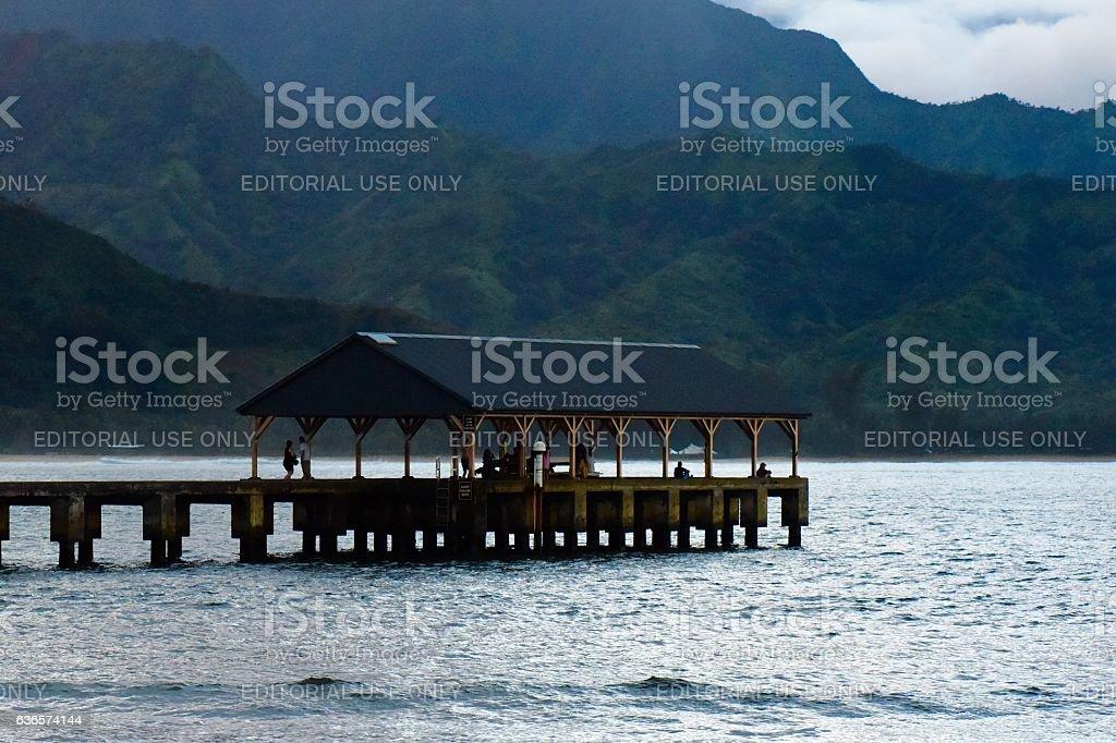 Hanalie Pier stock photo