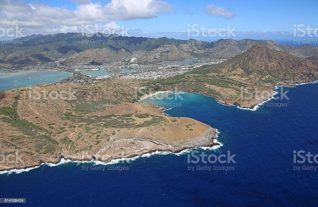 Hanauma and Koko Crater stock photo