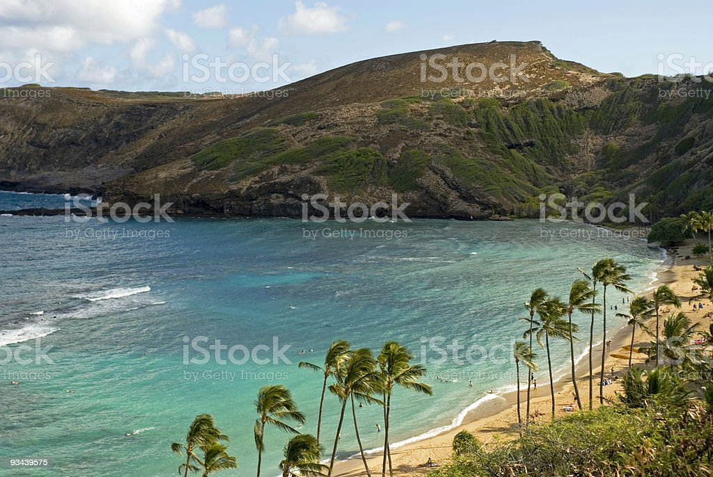 Hanauma Bay and Snorkeling royalty-free stock photo