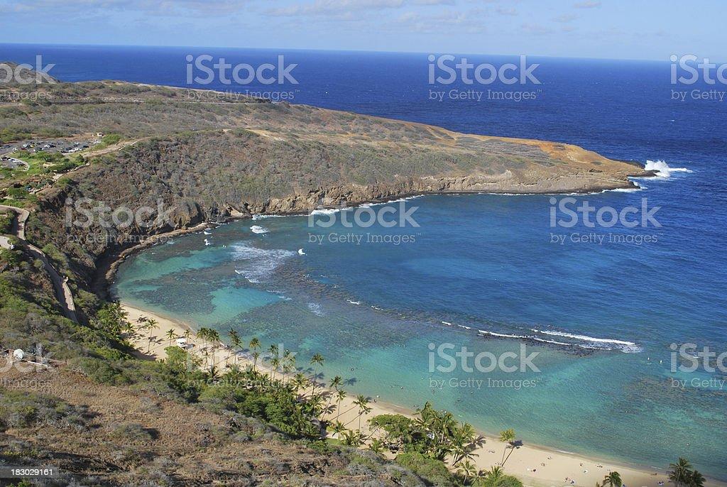 Hanauma Bay East Rim, Oahu royalty-free stock photo