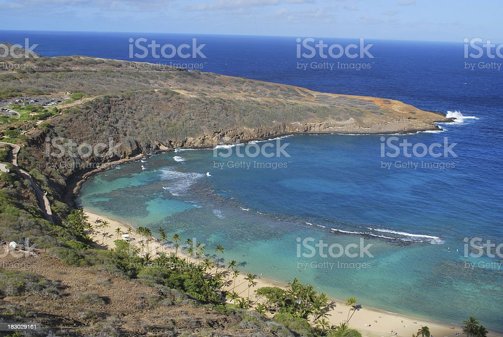 Hanauma Bay East Rim, Oahu stock photo