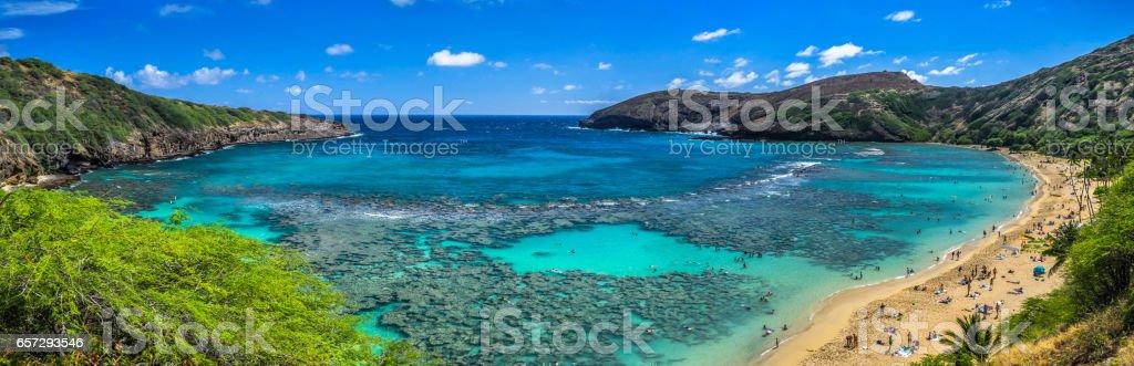 Hanauma bay - Hawaii - Oahu Island stock photo