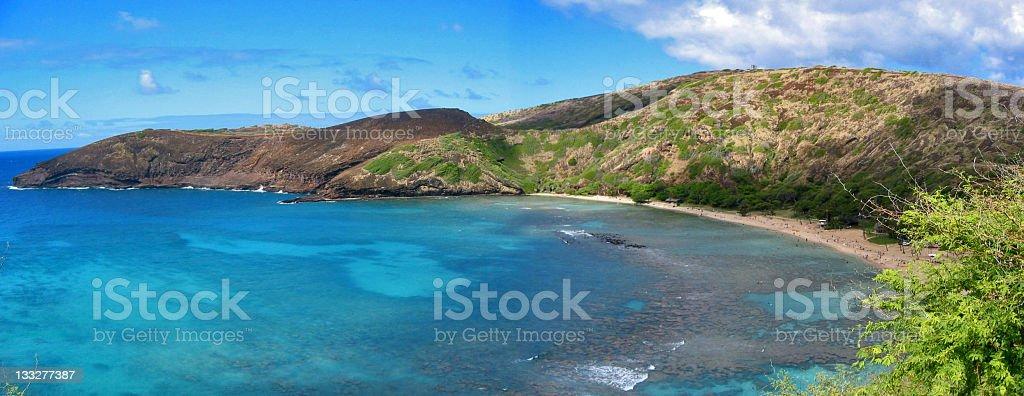 Hanauma Bay, Hawaii [panorama] royalty-free stock photo