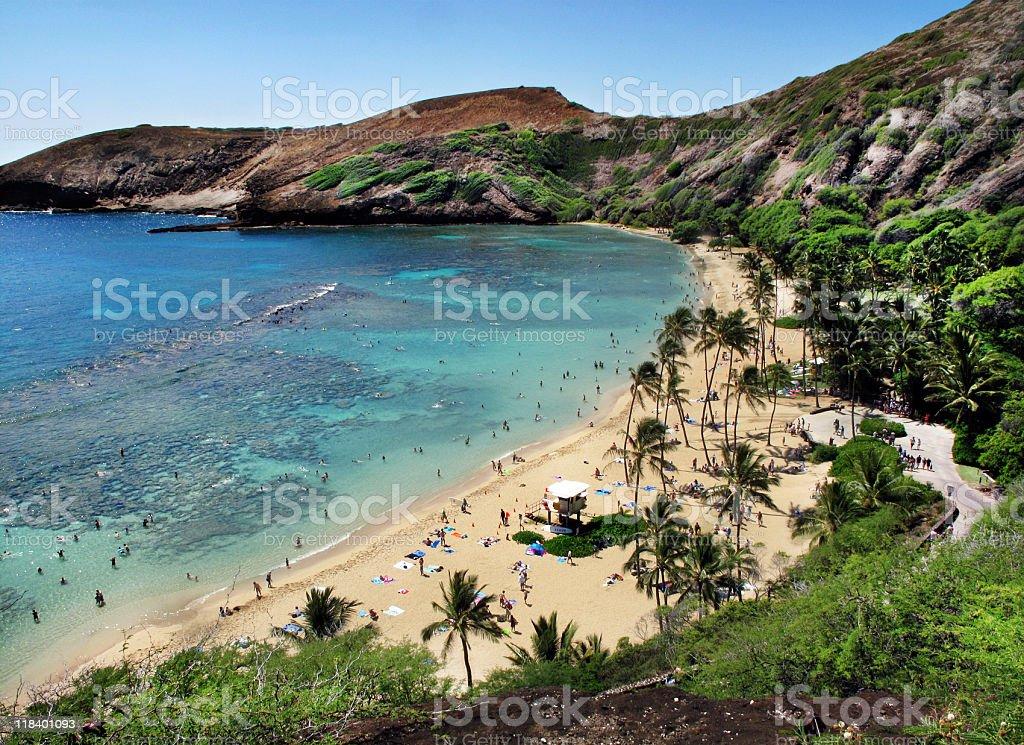 Hanauma Bay, Hawaii stock photo