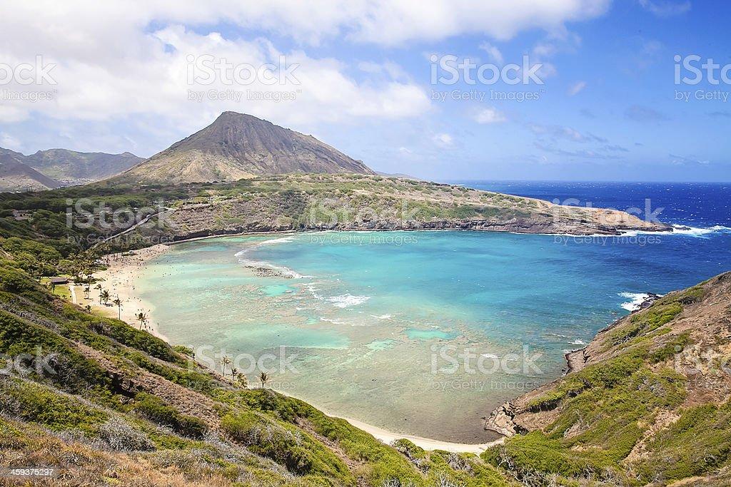Hanauma Bay Hawaii stock photo