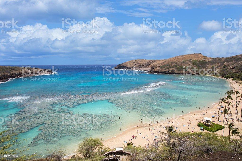 Hanauma bay Honolulu Hawaii stock photo