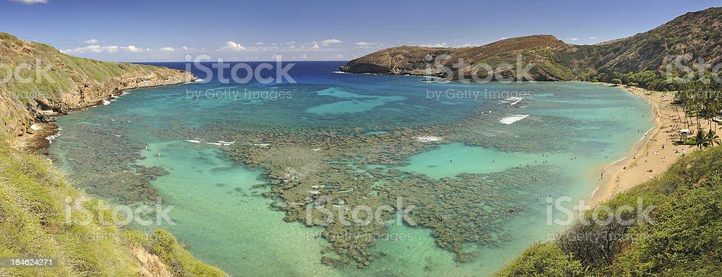 Hanauma Bay, Oahu, Hawaii - Heart Shape (XXXL) royalty-free stock photo