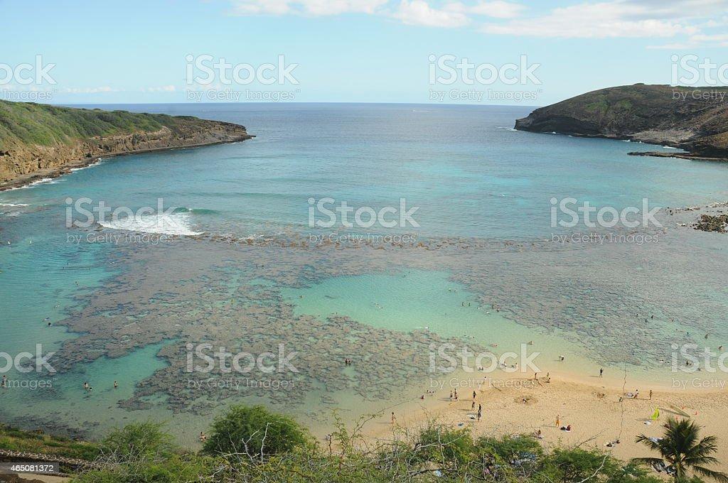 hanauma bay stock photo