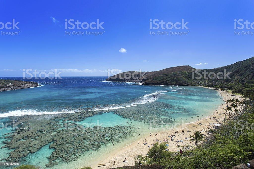 Hanauma bay, Snorkeling paradise in Hawaii stock photo