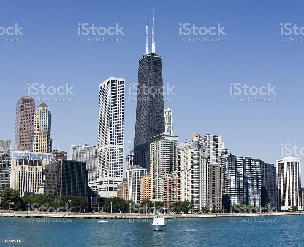 Hancock Building and Chicago Lakeshore Apartments royalty-free stock photo