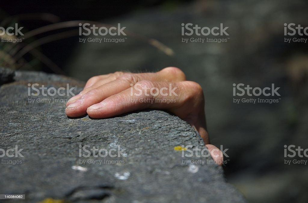 Hand am Fels royalty-free stock photo