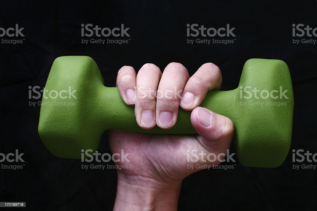 Hand & Weight royalty-free stock photo