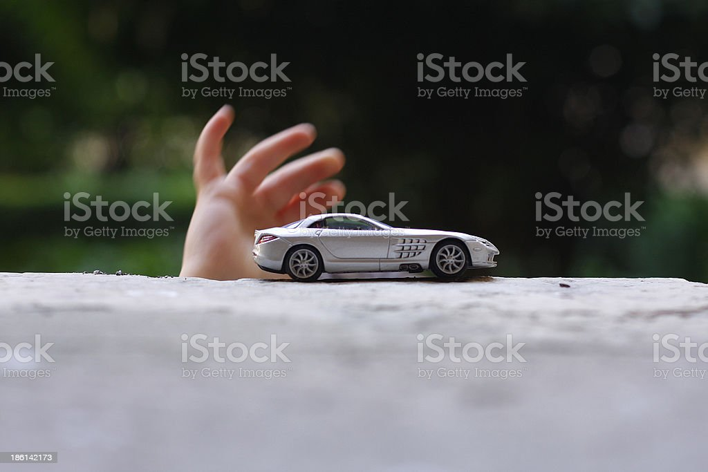 Hand and car stock photo