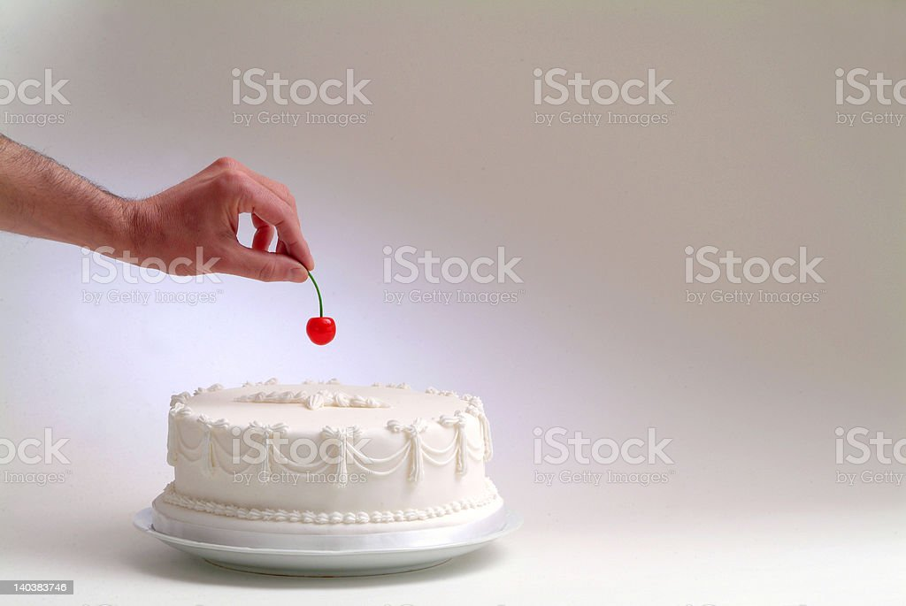 hand and cherry royalty-free stock photo