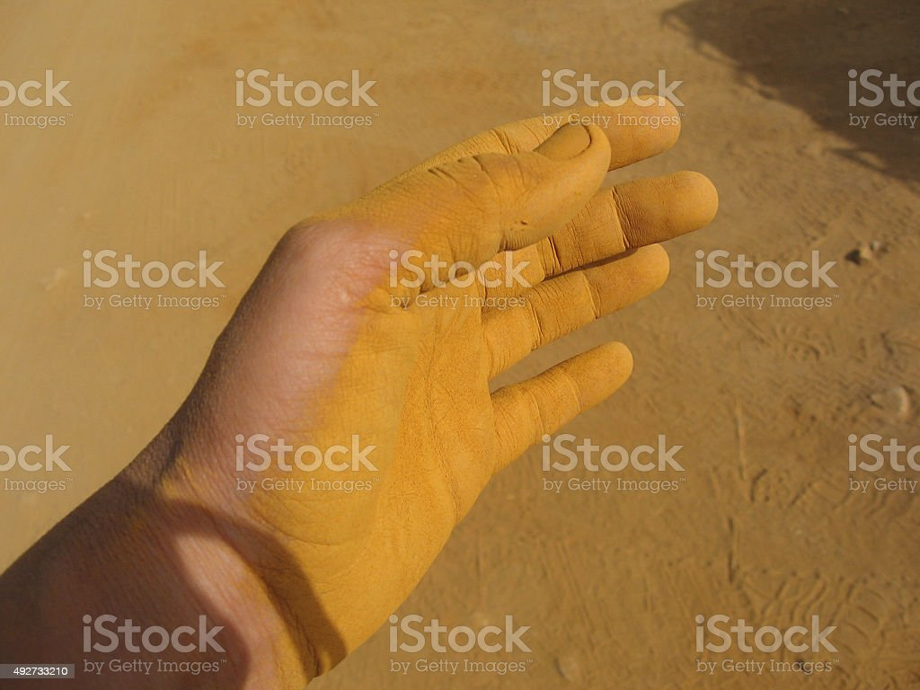 Hand and dust royalty-free stock photo