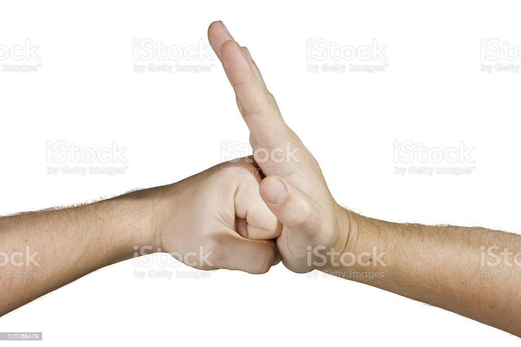 Hand and Fist royalty-free stock photo
