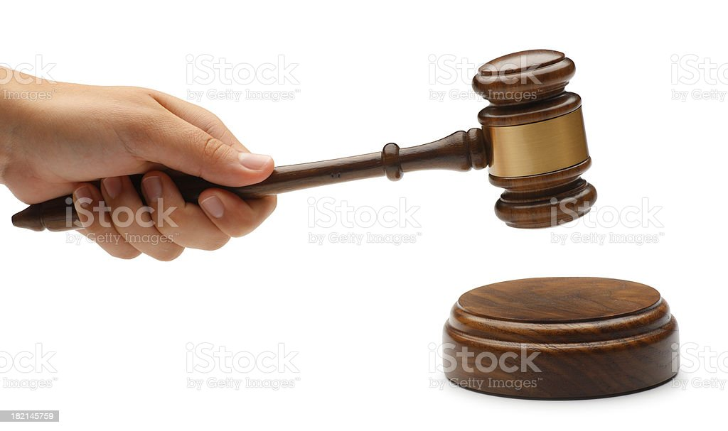 Hand and Gavel royalty-free stock photo