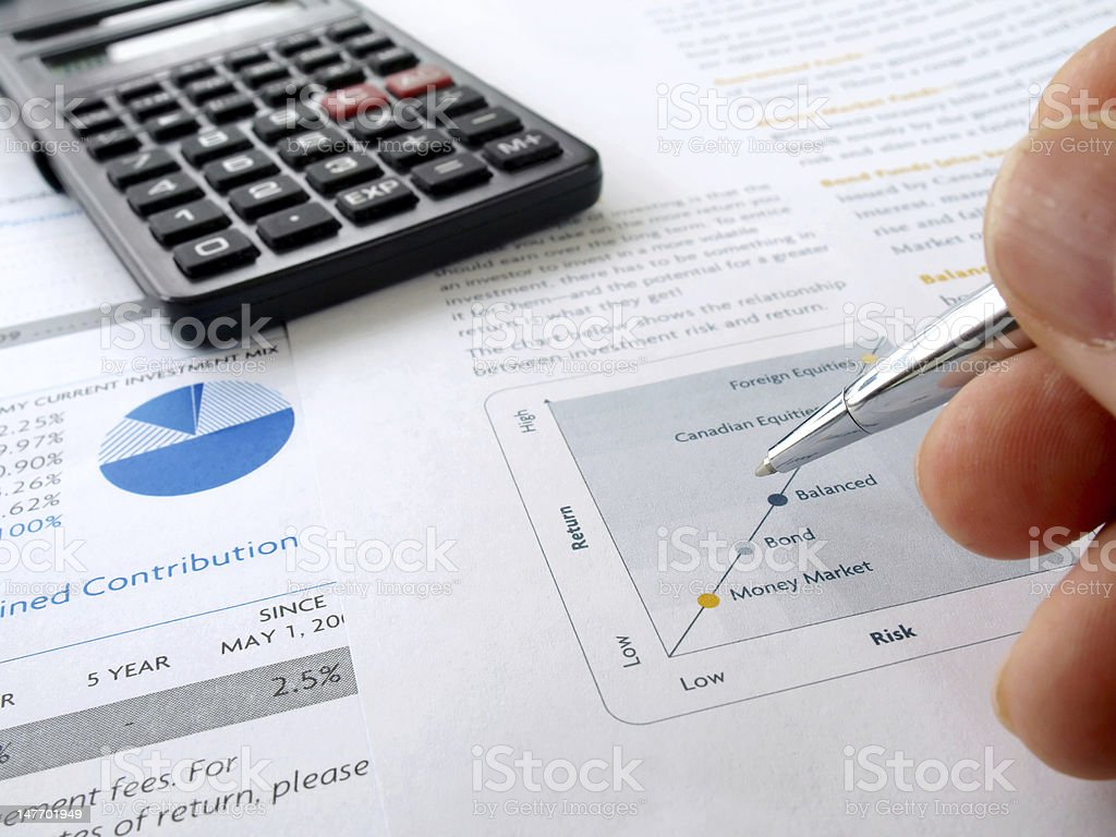 Hand and Investment Chart royalty-free stock photo