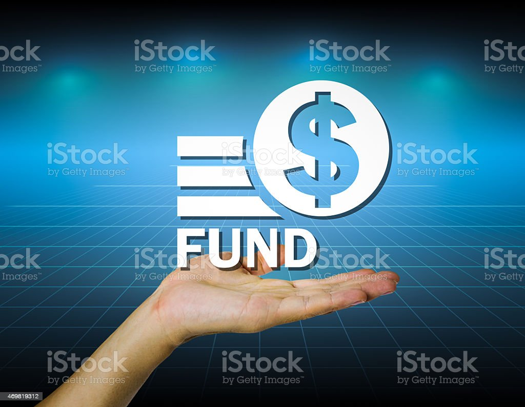 Hand and marking fund stock photo