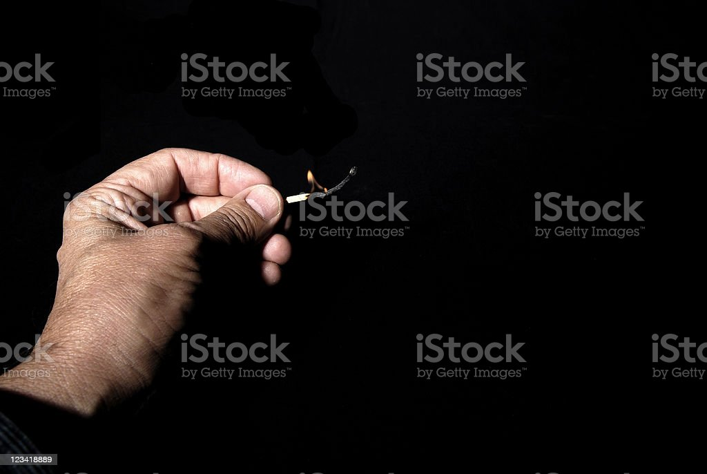Hand and Match stock photo