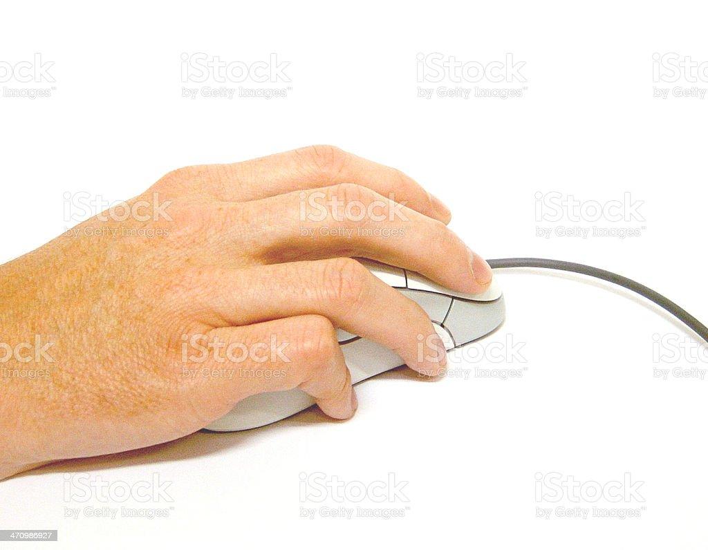 Mano y ratón foto de stock libre de derechos