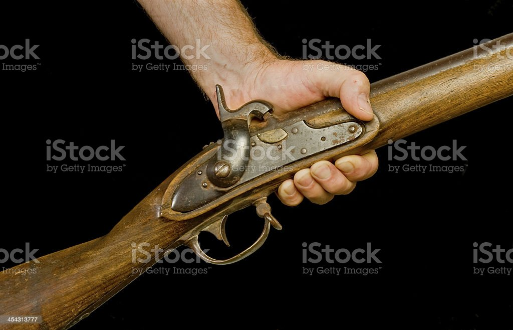 Hand and Musket stock photo