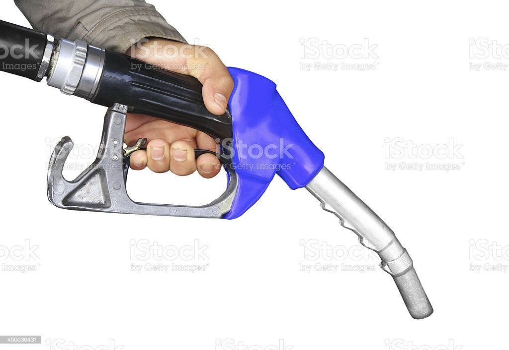 hand and oil pump stock photo