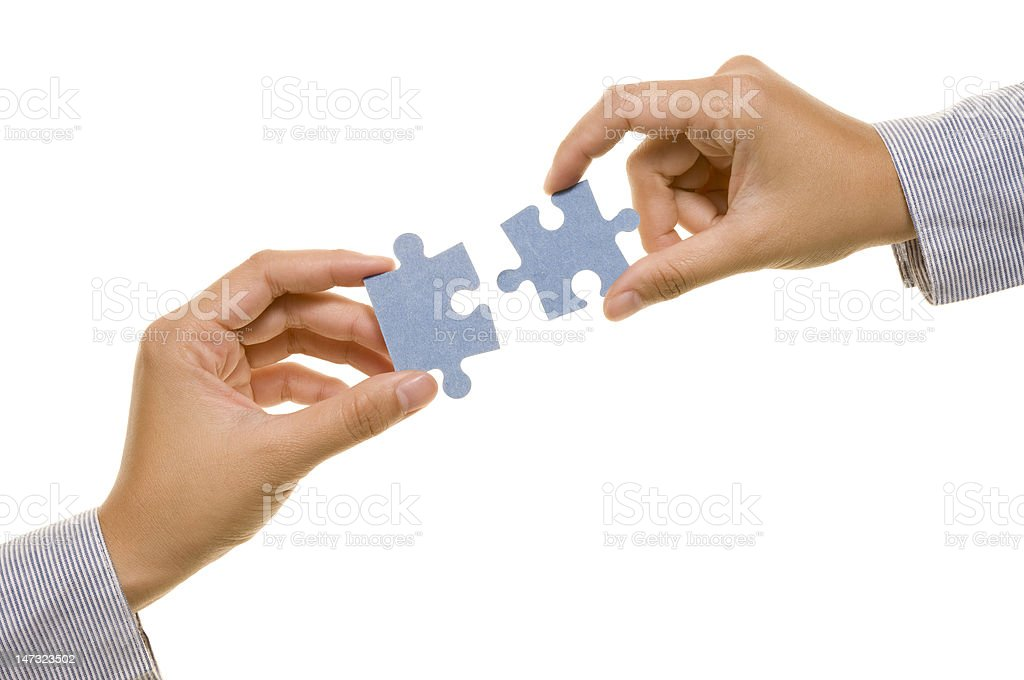 Hand And Puzzle royalty-free stock photo