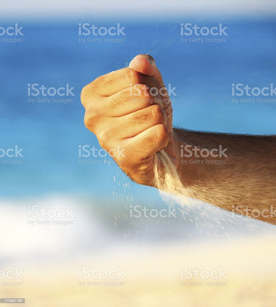 Hand and Sand stock photo