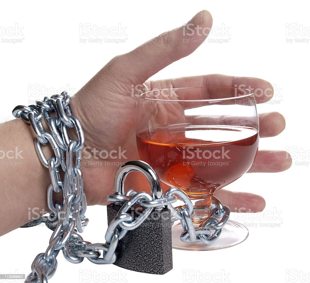 Hand and whiskey royalty-free stock photo