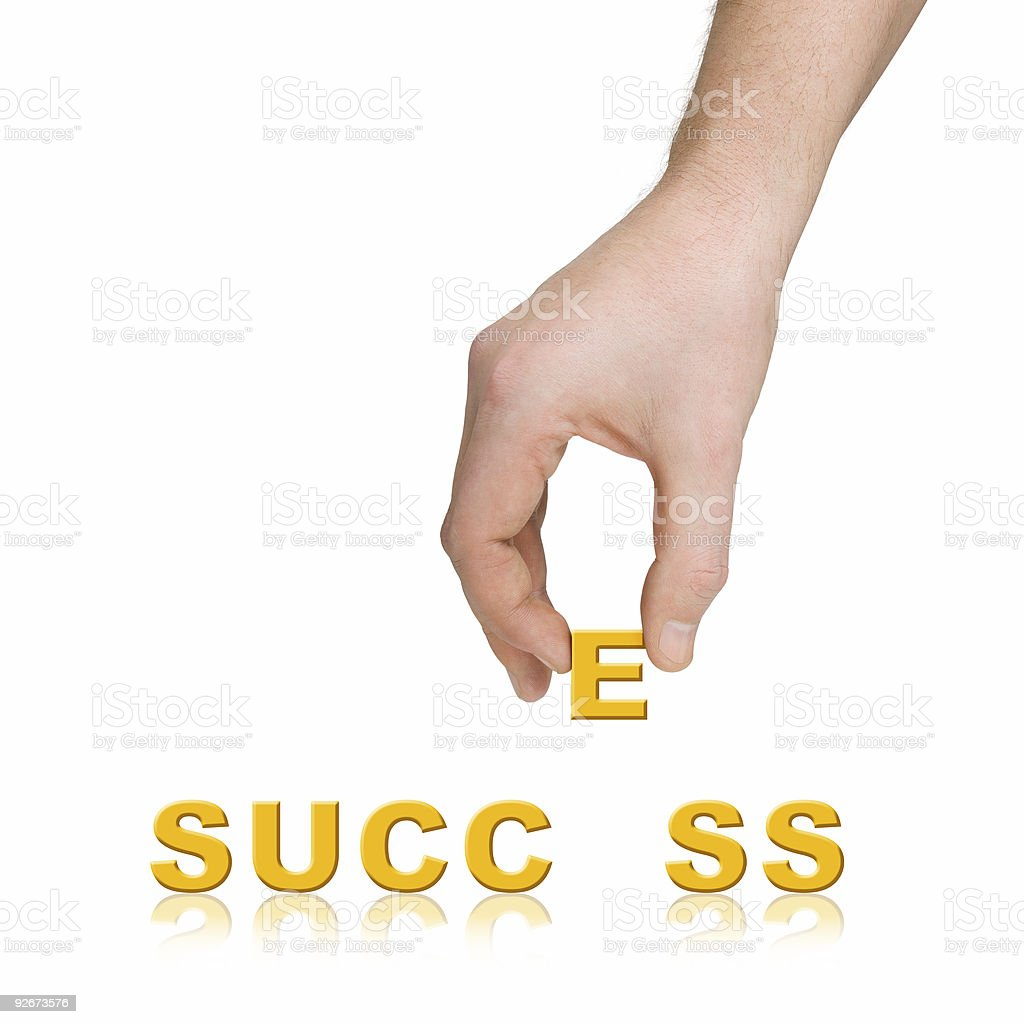 Hand and word Success, business concept royalty-free stock photo