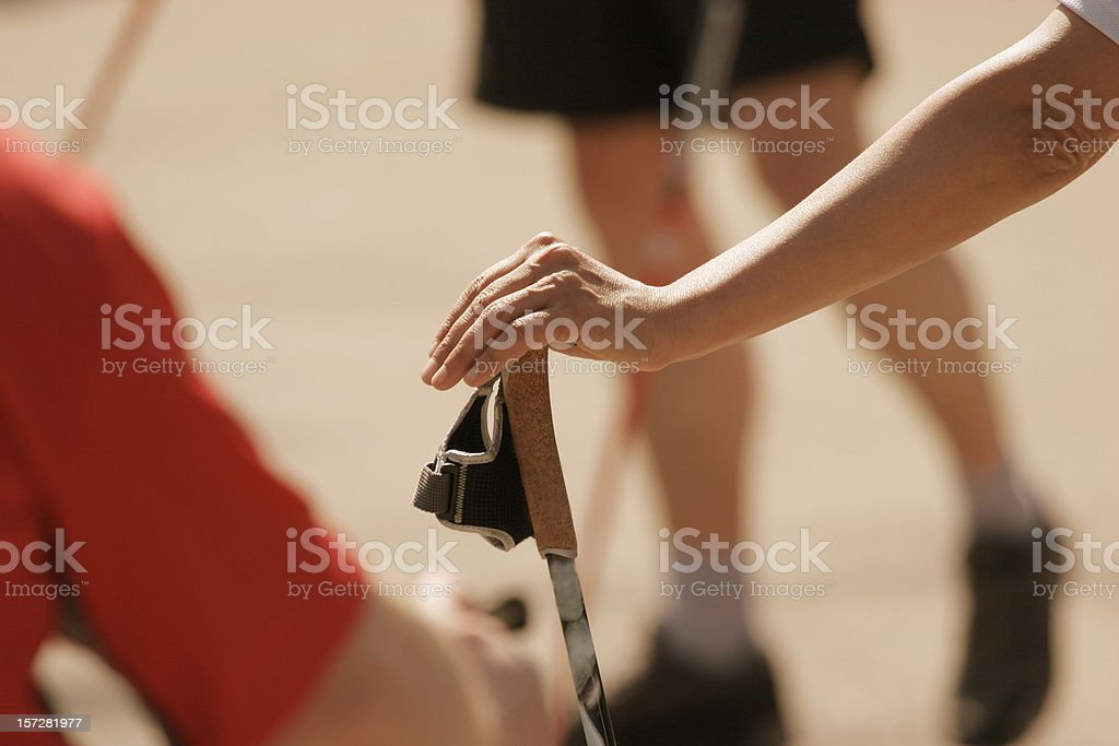 hand at the stick royalty-free stock photo