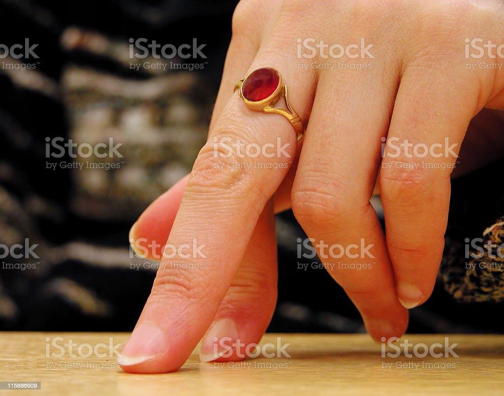 Hand attitude-close-up royalty-free stock photo