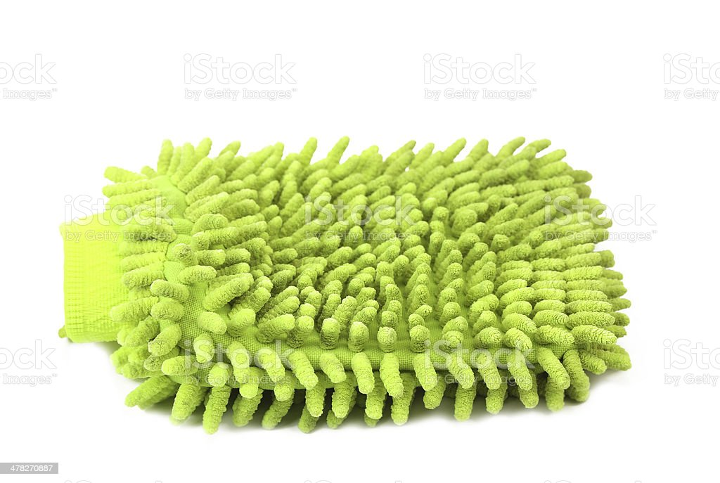 Hand bath sponge glove. royalty-free stock photo