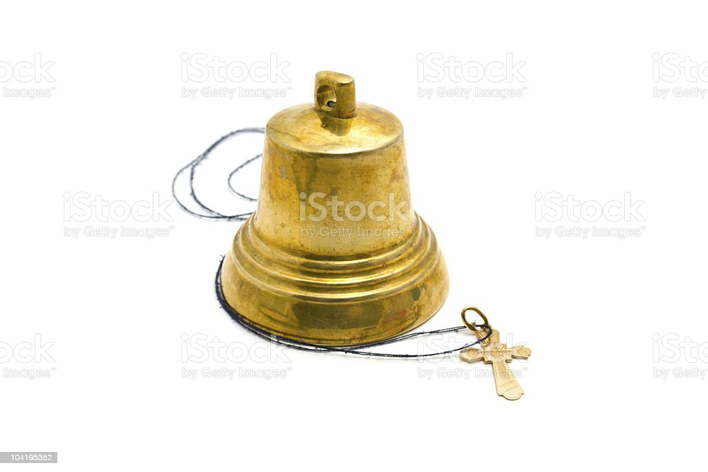 Hand bell and dagger royalty-free stock photo