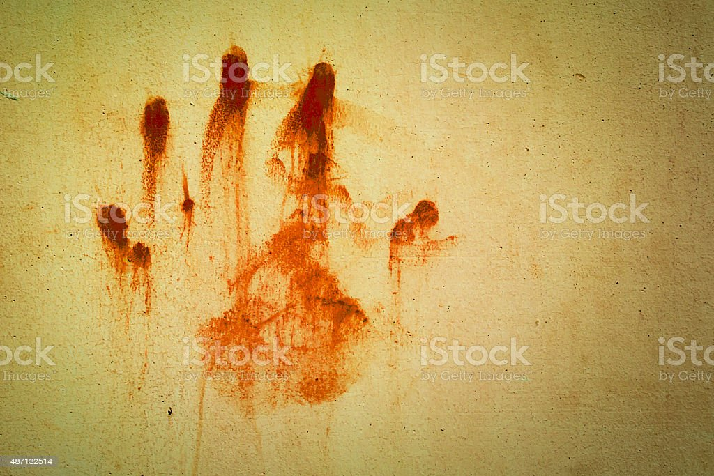 hand bloodstains vector art illustration